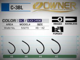Owner 3 BL szakáll nélküli horog
